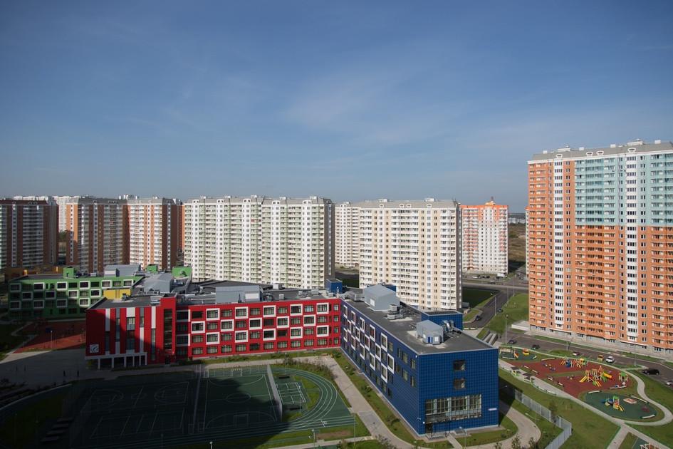 Вид на жилой квартал в районе Некрасовка