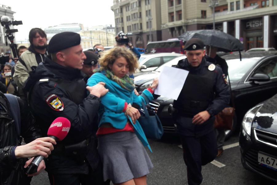 Задержание активиста околоГосдумы. 14 июня 2017 года