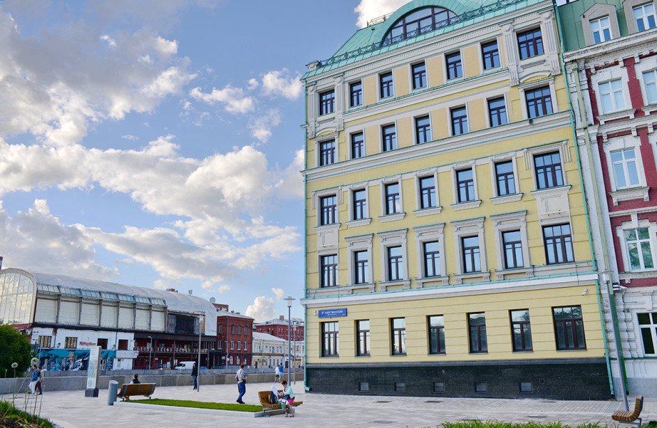 Вид на дома-новостройки в Голутвинской слободе