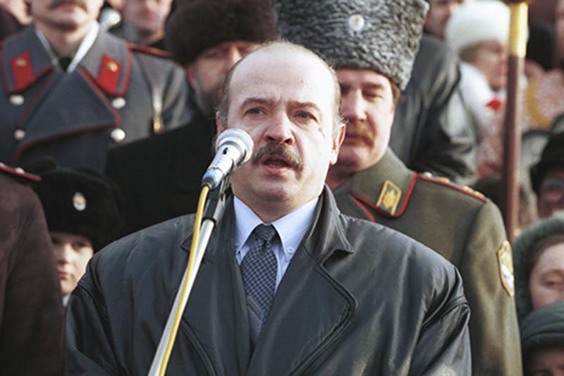 Основатель ультранационалистической организации «Русское национальное единство» Александр Баркашов, 1999 г.