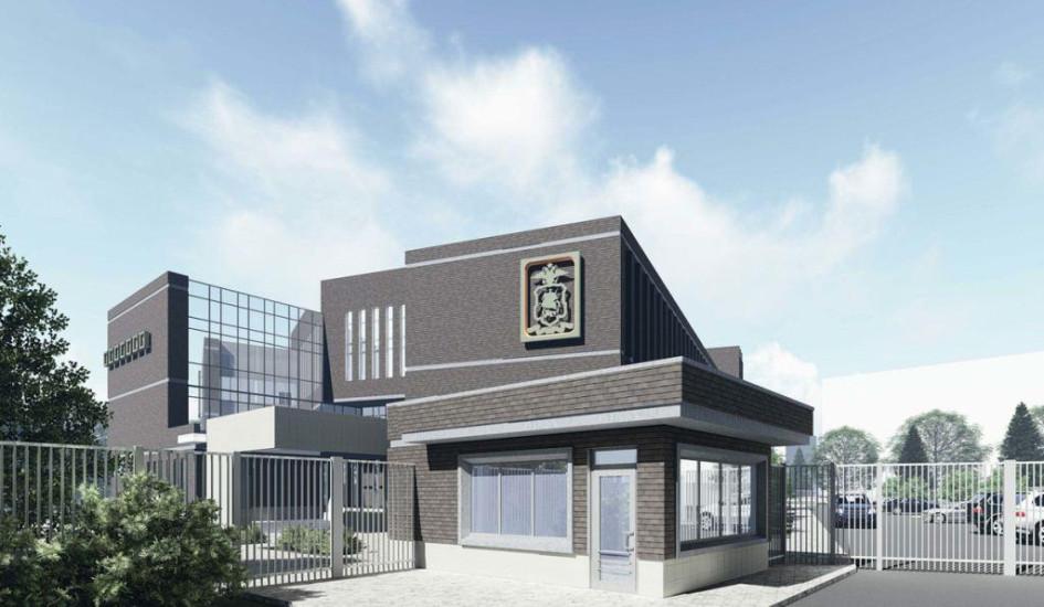 Визуализация архитектурного проекта нового здания отделения полиции в Хорошеве-Мневниках