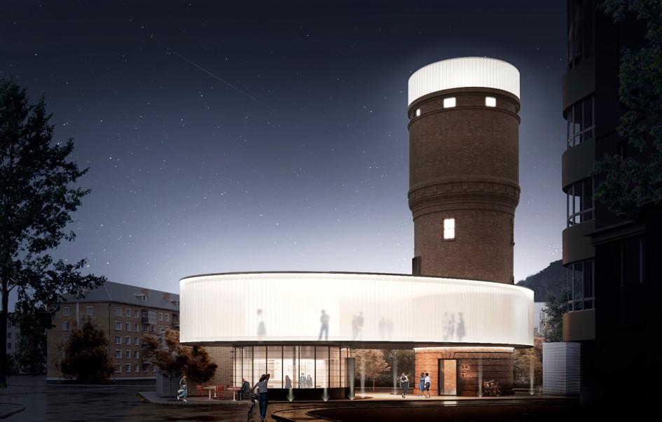 Из портфолио:проект редевелопмента водонапорной башни в Щербинке