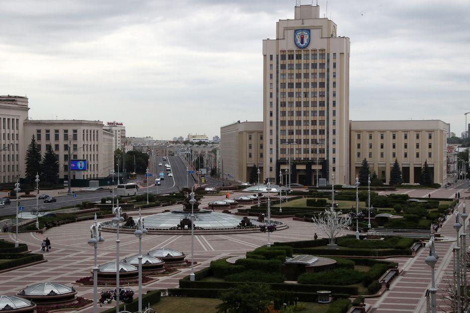 Вид на площадь Независимости в Минске