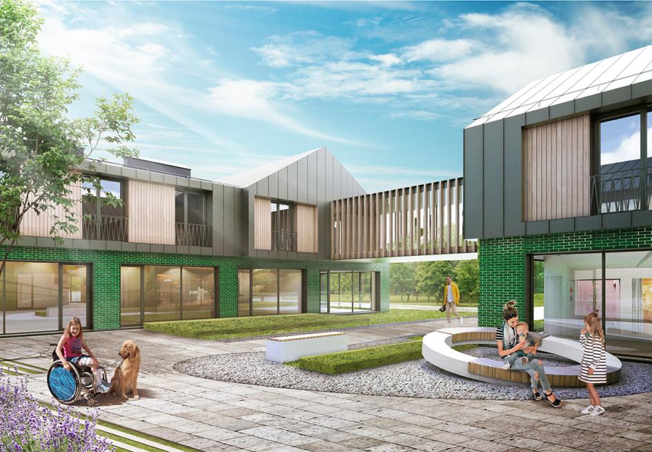 Из портфолио: проект здания детского хосписа