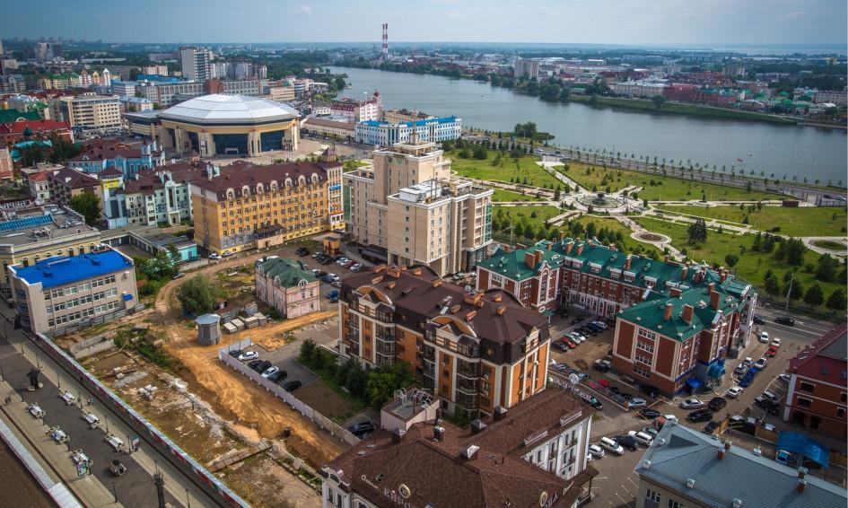 Казань, вид нацентр города
