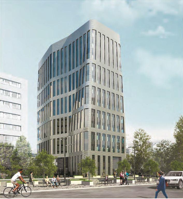 Архитектурную концепцию офисного центра разработала студия «Гинзбург Архитектс», сказано в пресс-релизе Москомархитектуры