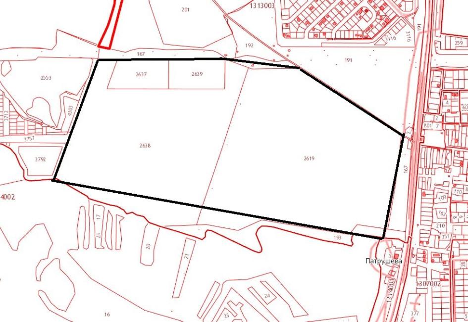 Инвестору отдадут четыре участка, расположенные в районе деревни Комарова.