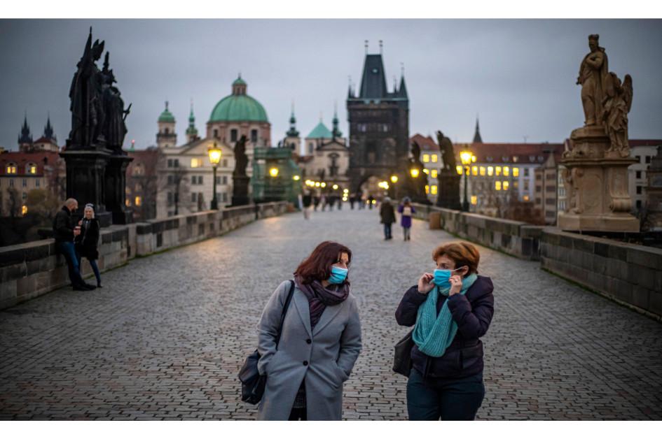 Прага в период пандемии коронавируса COVID-19