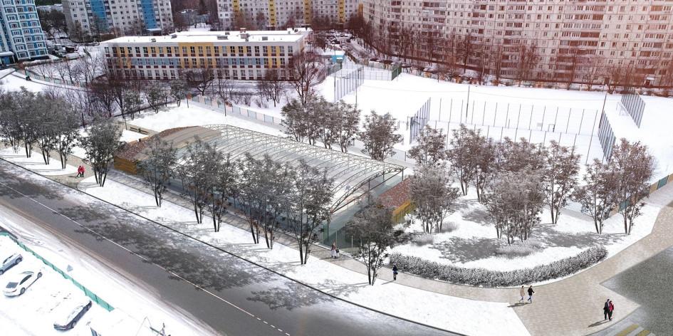 Проект спортивной площадки в районе Орехово-Борисово Южное