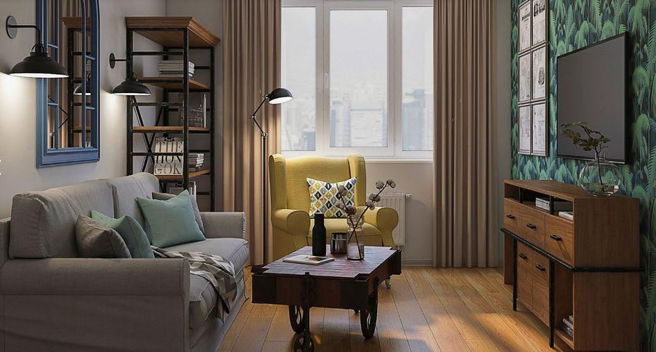 Повторно используемая мебель в интерьерах гостиной