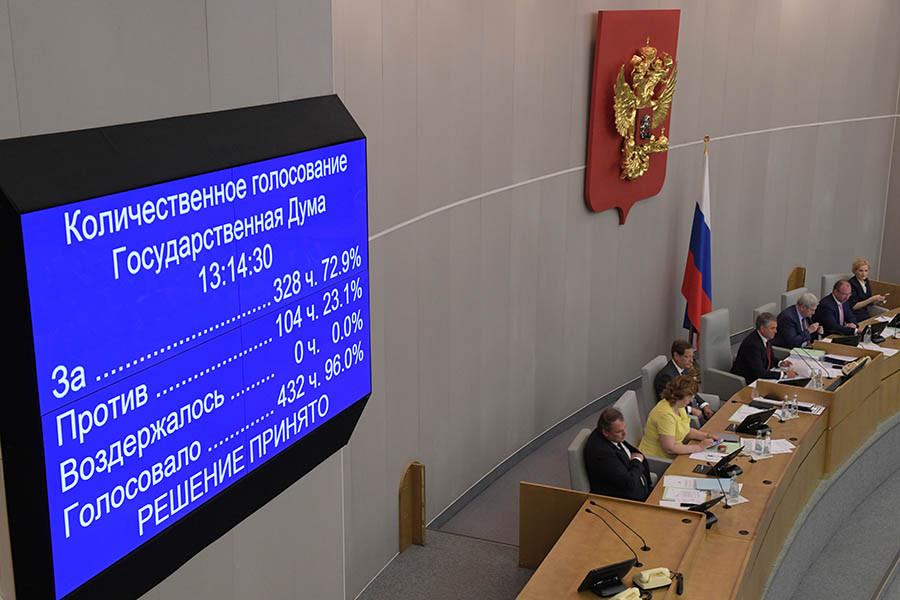 Итоги голосования по законопроекту о повышении пенсионного возраста
