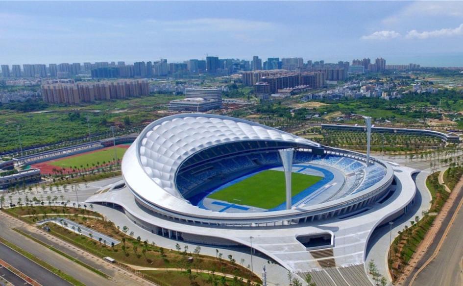 Wuyuanhe Stadium (Хайкоу, Китай). Вместимость 41 506 зрителей, сроки строительства — 7 марта 2017г. — 24 апреля 2018г., стоимость строительства — $157,3 млн.