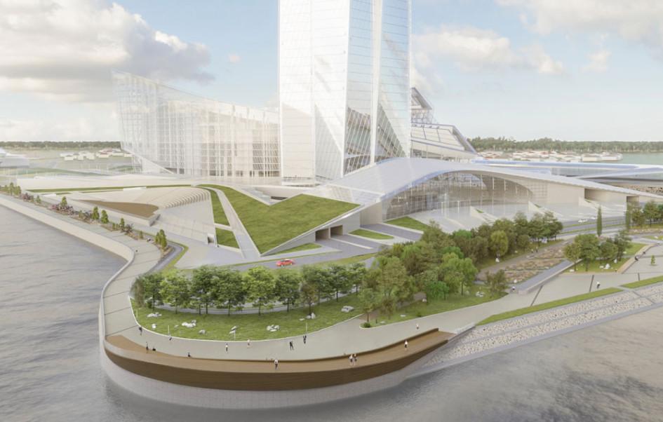Проект создания общественного пространства на набережной у «Лахта Центра» (Фото: lakhta.center)