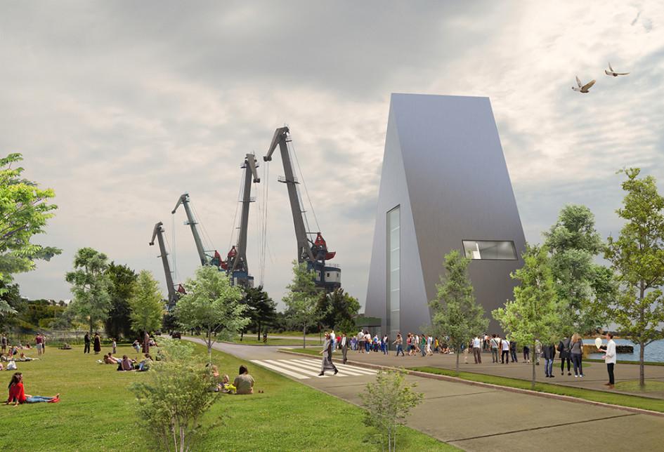 Проект нового здания морского порта «Азов»