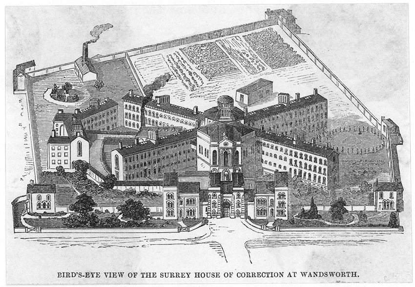 План тюрьмы Уондсворт, 1860 год
