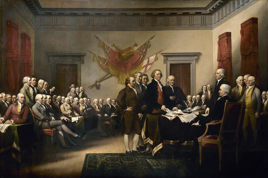 Принятие Декларации о независимости США в 1776 году