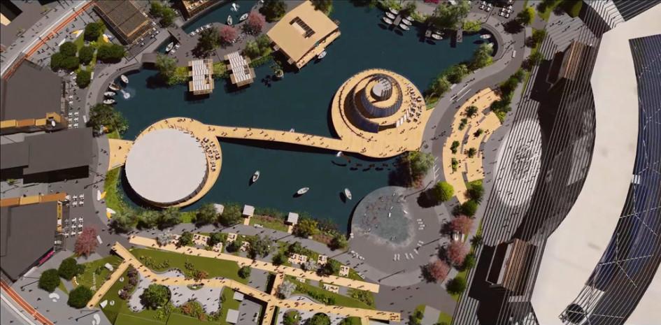 В «Меге» создадут искусственный пруд «Лагуна» площадью около 3 га