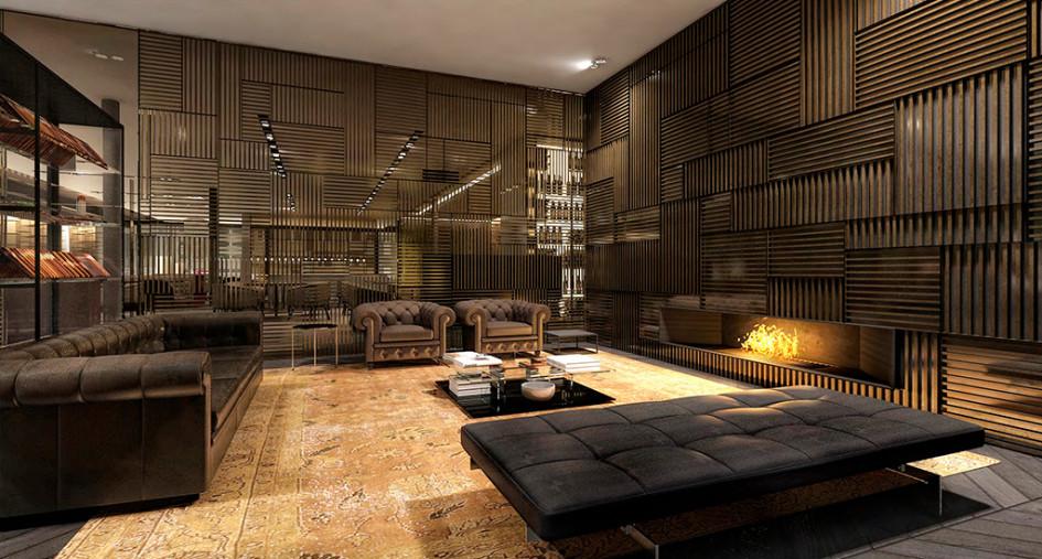 Проект лобби отеля