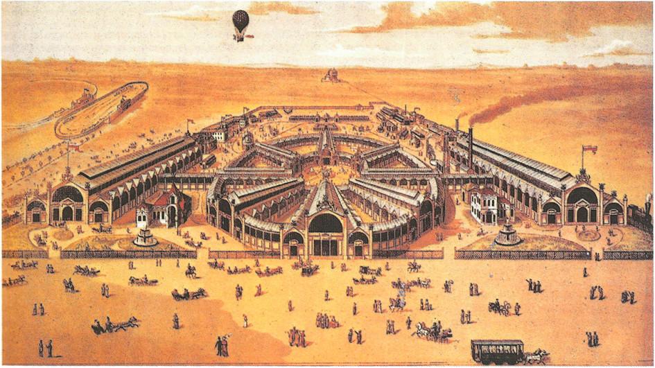 Всероссийская художественно-промышленная выставка 1882 года в Москве на Ходынском поле. Литография