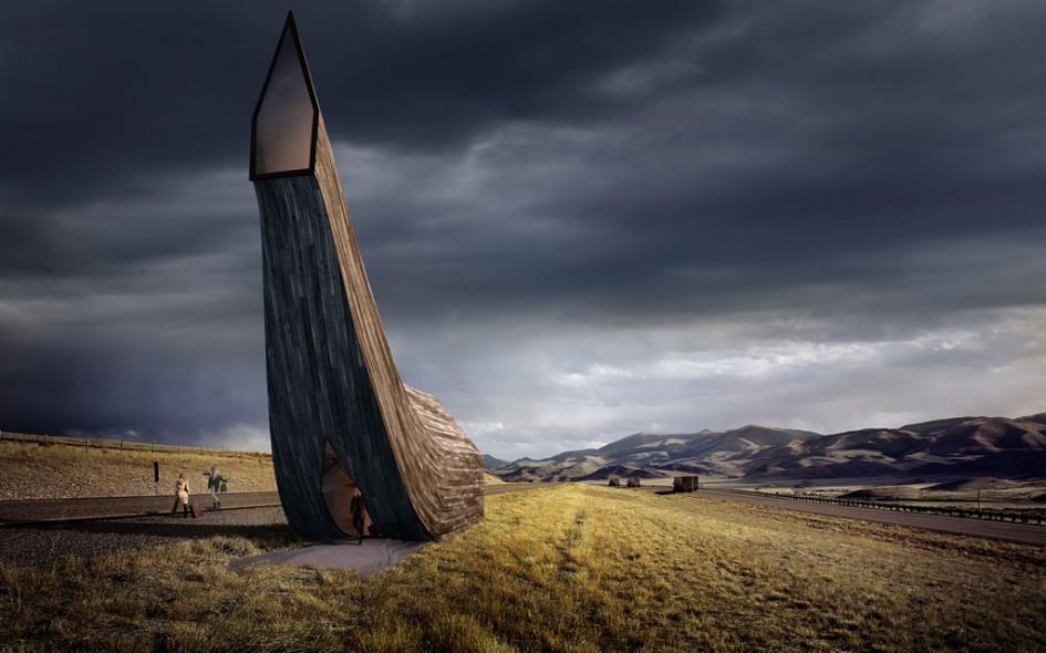 Проект остановки британских архитекторов напоминает хобот мамонта