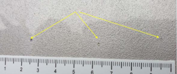 Внешний вид повреждений от попадания молнии в передней верхней части фюзеляжа