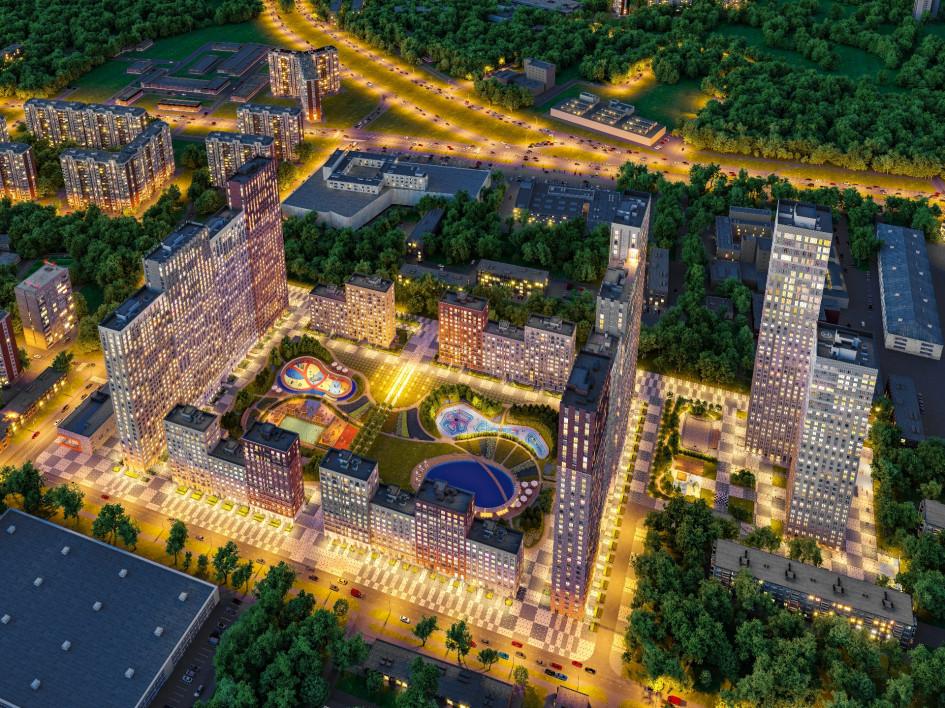 Вид на ЖК «Селигер Сити»