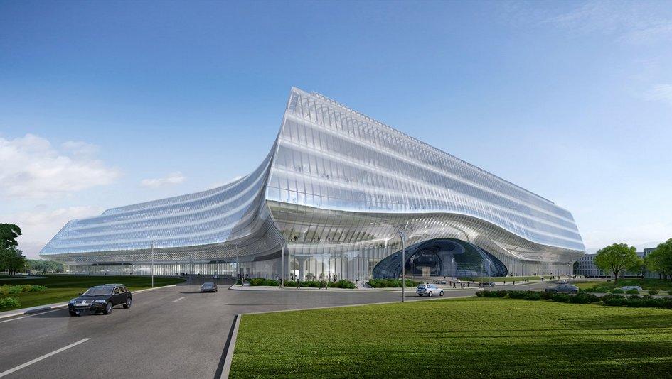 Проект здания технопарка Сбербанка в «Сколково»
