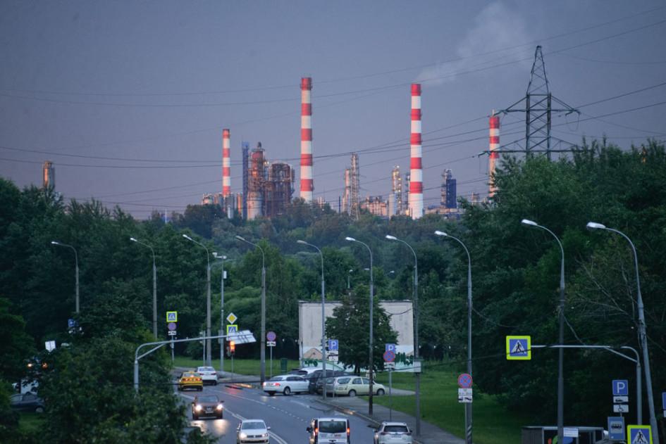 Вид на Капотню и парк 850-летия Москвы