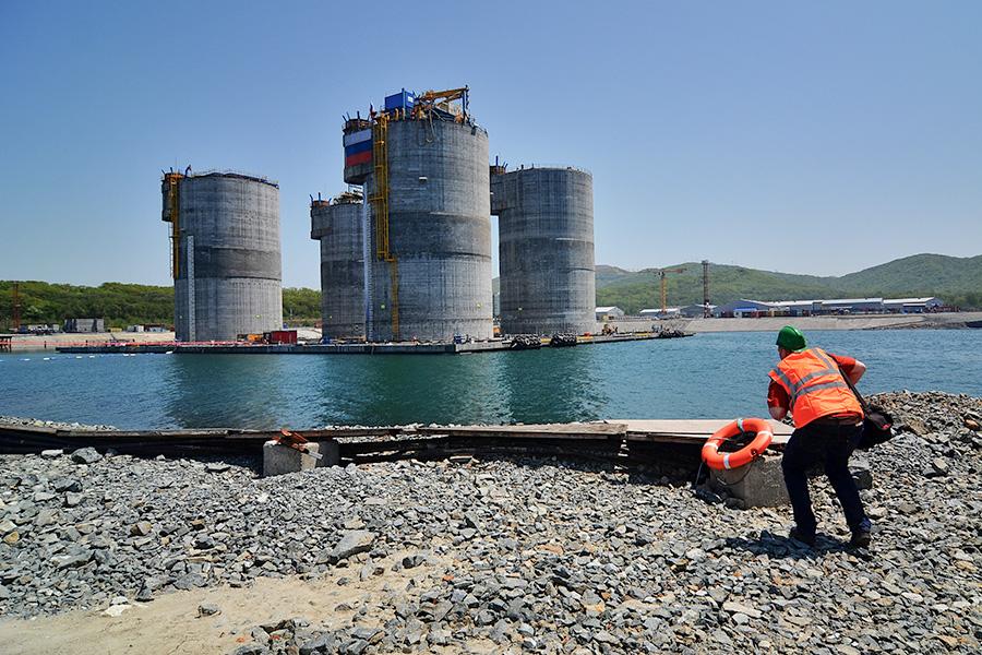 Железобетонное основание нефтяной платформы проекта «Сахалин-1»