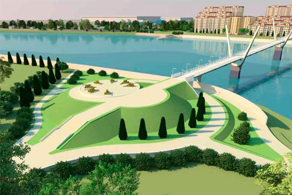 Фото: Проект моста в районе парка 30-летия Победы