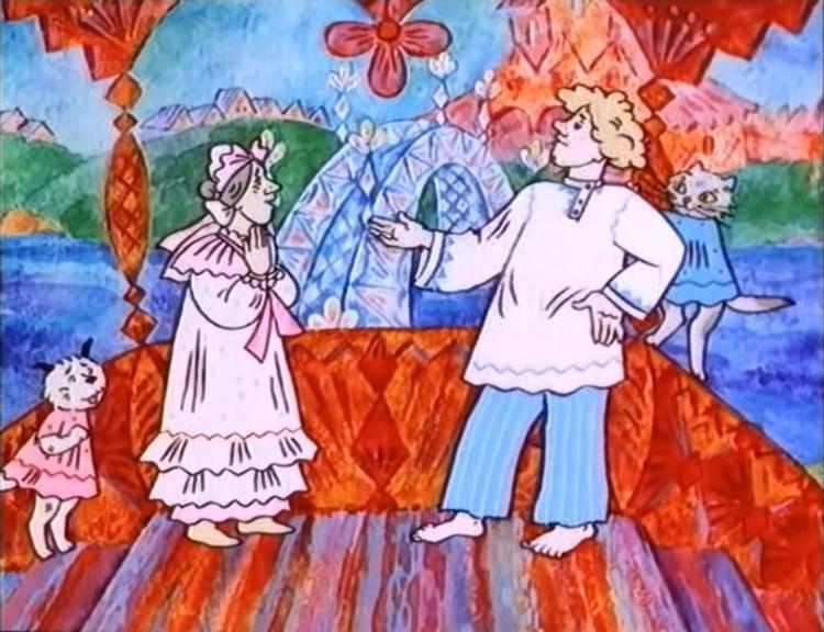 Кадр из м/ф «Волшебное кольцо» Режиссер Л.Носырев. 1979 год