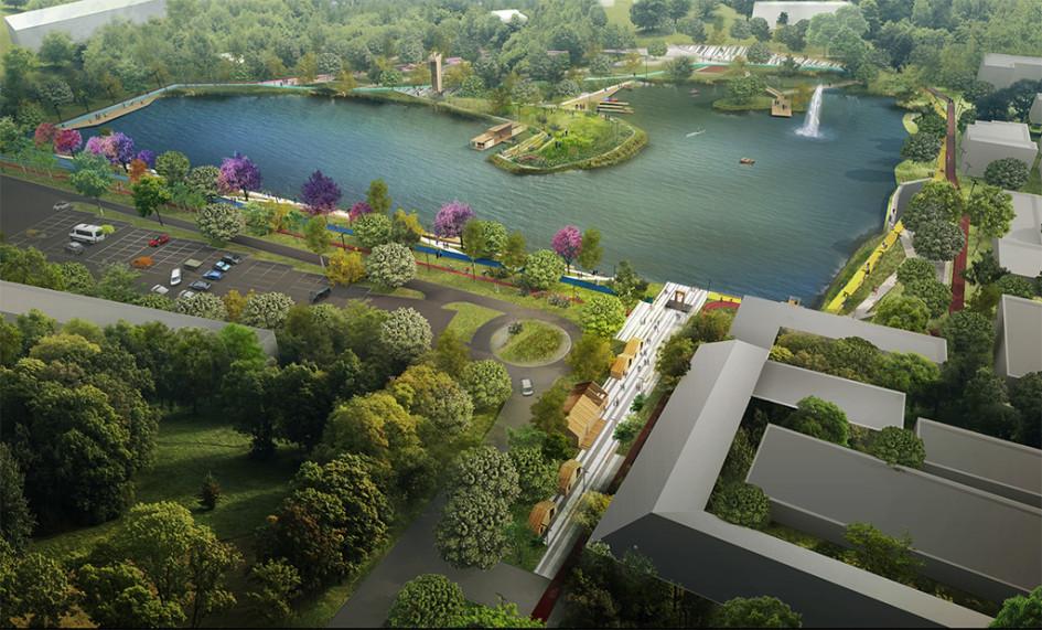 Общий вид проекта благоустройства Фабричного парка