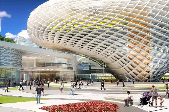 Фото: Проект реконструкции стадиона «Динамо» от архитектурного бюро Aedas