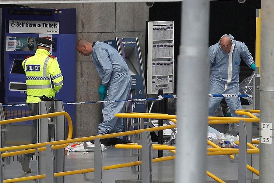 Работа полиции на месте теракта