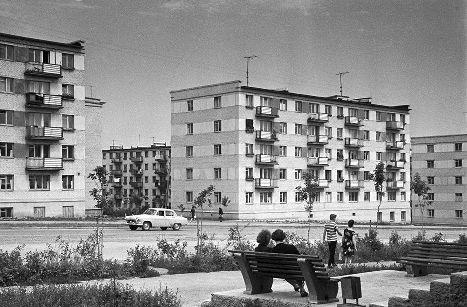 Дома на проспекте Победы в Челябинске. 1965 год