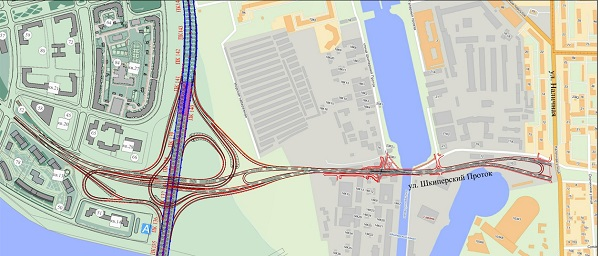 Транспортная развязка с ЗСД в районе Шкиперского протока