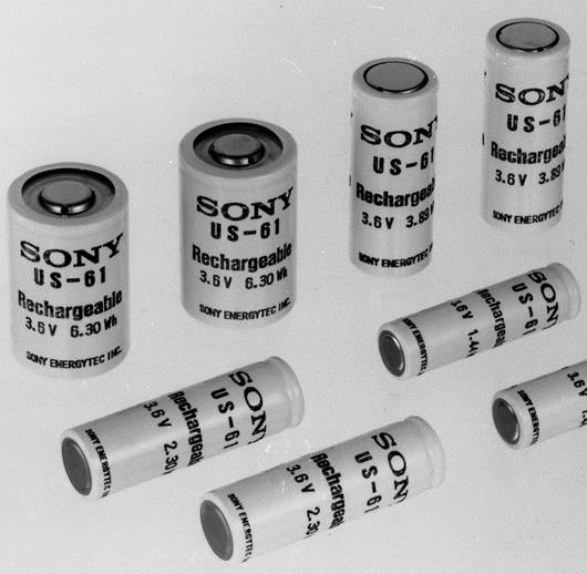 Первые литий-ионные батарейки Sony