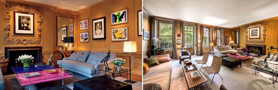 Найдите десять отличий: слева комната из Architectural Digest, справа - из объявления о продаже