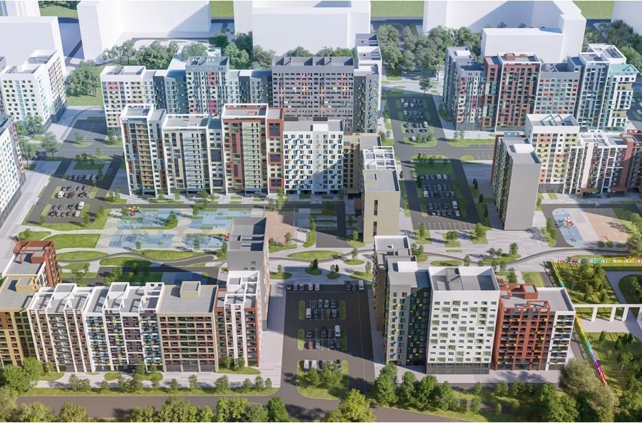 Типовые дома, которыепроизводят наДСК «Град» вМосковской области длястроительной компании «Мортон»