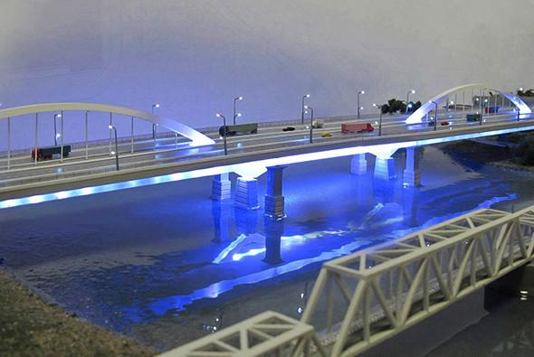 Фото: Макет дублера Яблоновского моста