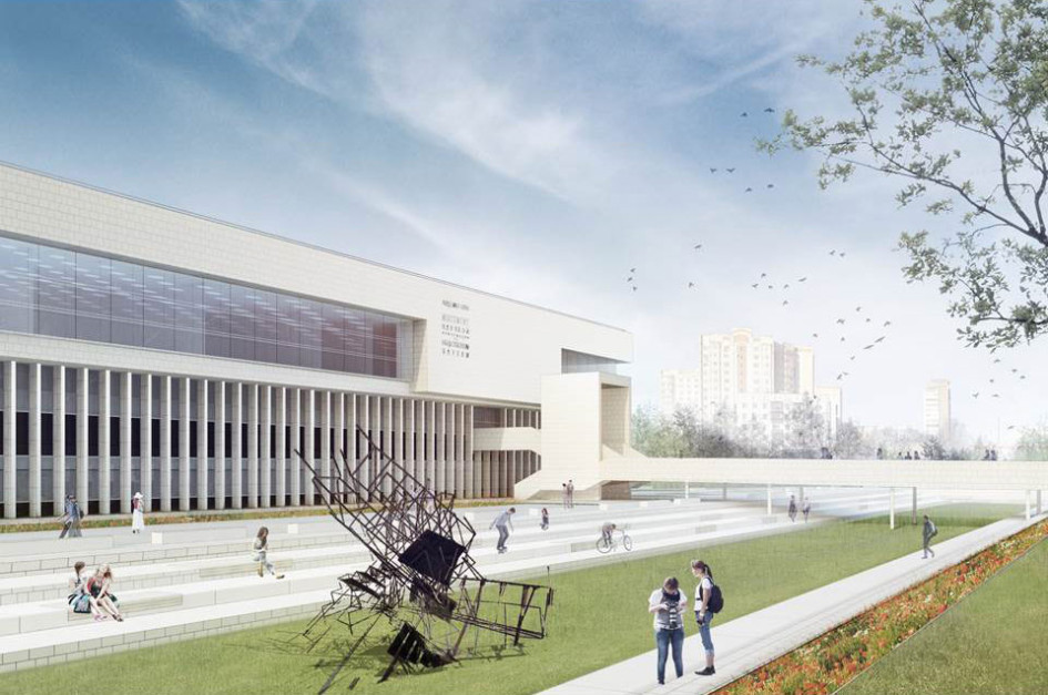 Проект здания библиотеки ИНИОН