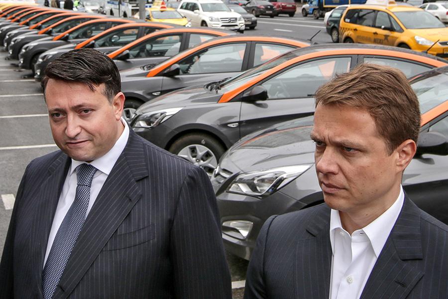 Владелец компании«Делимобиль» Трани Винченцо и Максим Ликсутов (слева направо)