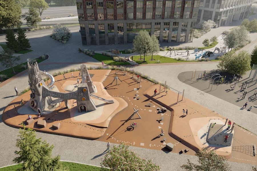 Рендер площадки «Энергия» в строящемся West Garden