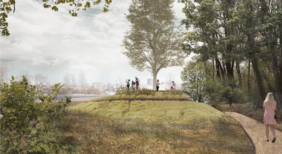 Территория парка будет делиться на шесть зон: входную, детскую, семейную, спортивную, прогулочную и хозяйственно-бытовую