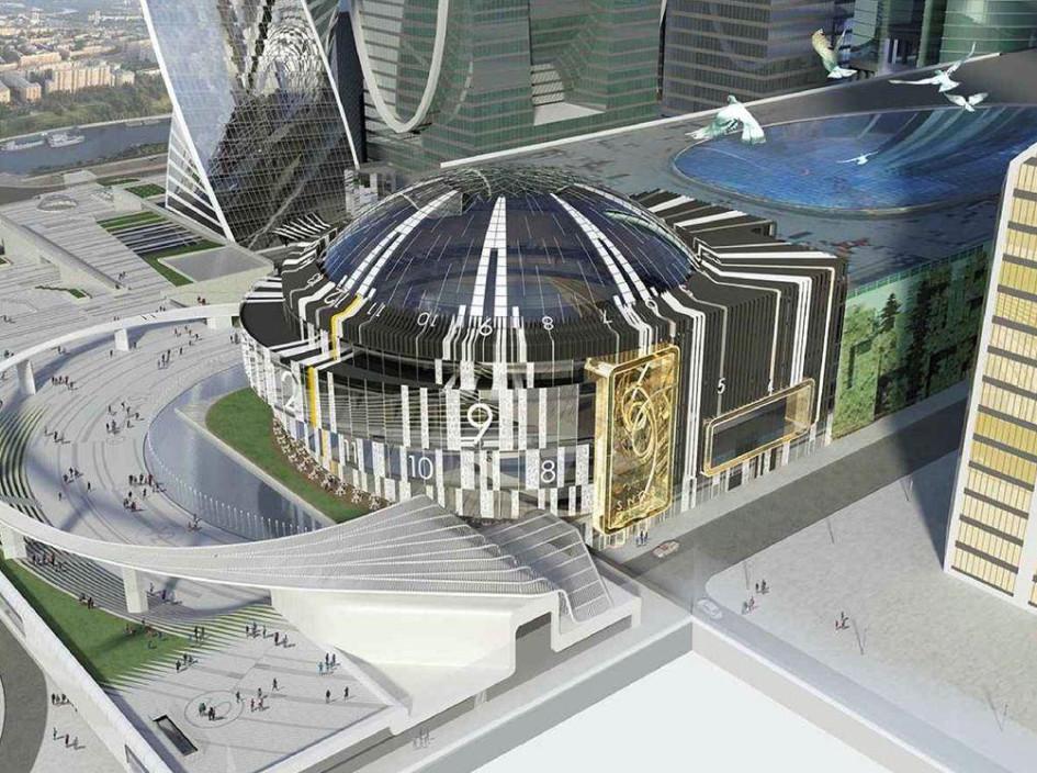 Новый концертный зал сраздвигающимся стеклянным куполом