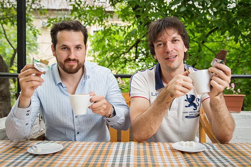 Соучредители компании «Дары Памира» Алексей Минаев (слева) и Алексей Кочкин