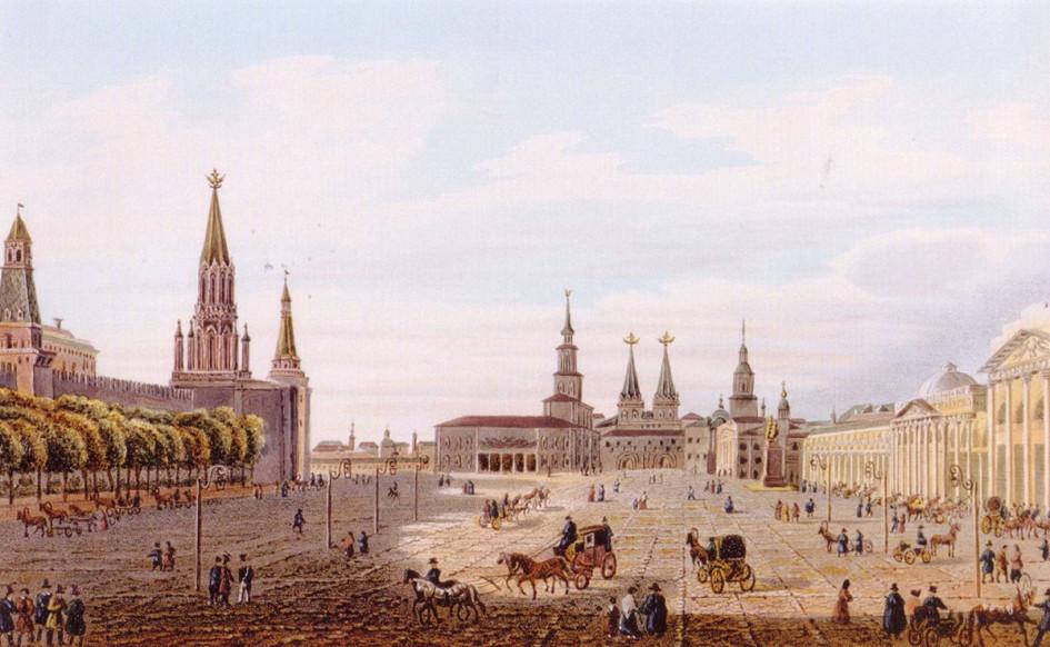 Огюст-Антуан Кадоль. Красная площадь. 1834 год