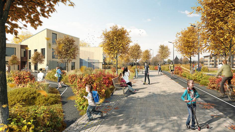Школа в парке
