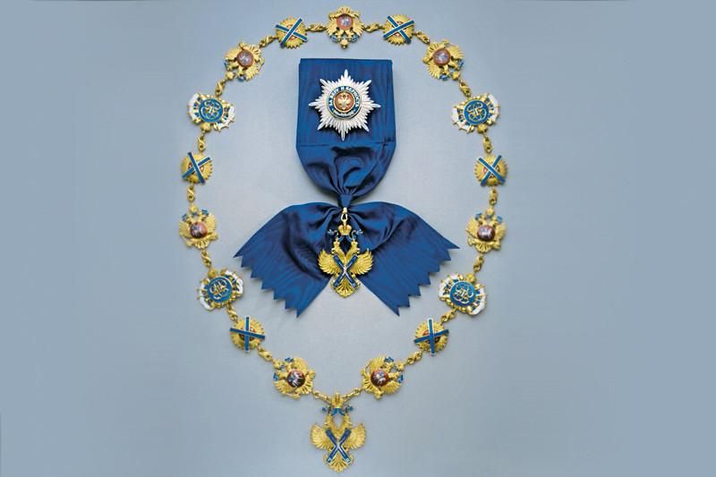Высшая государственная награда России — орден Святого апостола Андрея Первозванного