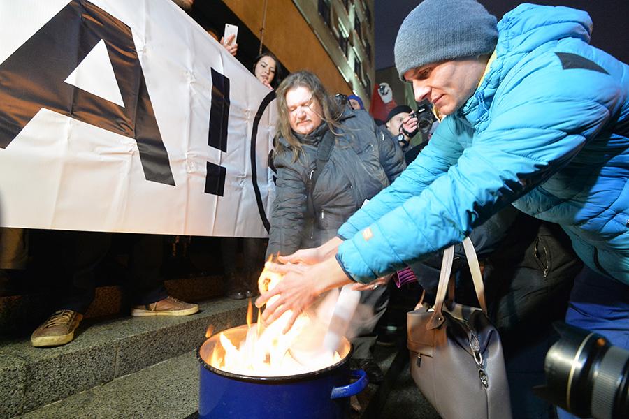 Участники несанкционированной акции протеста вМинске